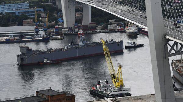 Прибытие корвета Громкий во Владивосток