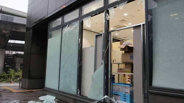 Последствия прохождения тайфуна в Японии