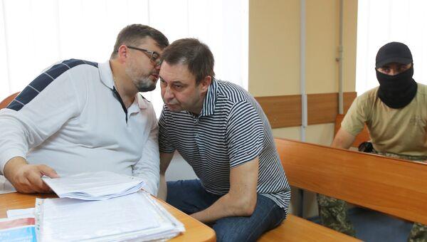 Руководитель портала РИА Новости Украина Кирилл Вышинский в зале апелляционного суда. Архивное фото