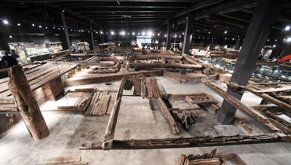 Экспозиция Музея археологического дерева Татарская слободка