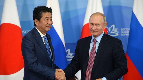 Владимир Путин и премьер-министр Японии Синдзо Абэ
