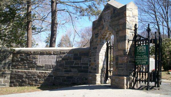 Кладбище Слипи-Холлоу в штате Нью-Йорк, США
