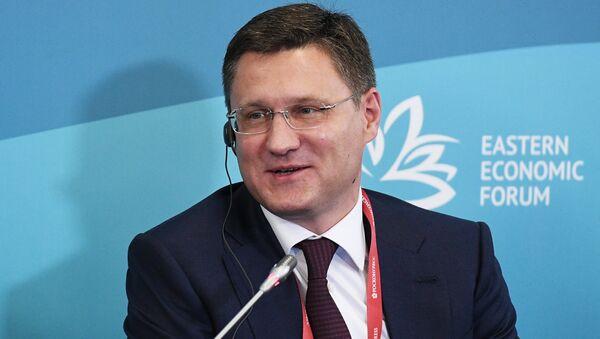 Министр энергетики Российской Федерации Александр Новак на панельной сессии Новые энергетические рынки: дальневосточный вектор в рамках IV Восточного экономического форума во Владивостоке.