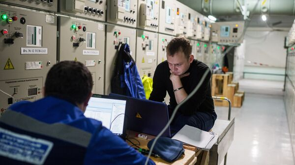 Инженеры на месте строительства Таврической (Симферопольской) ТЭС в Крыму