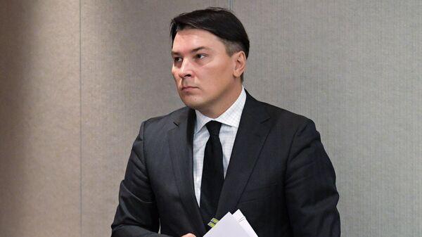 Заместитель министра финансов РФ Илья Трунин на пленарном заседании Государственной Думы РФ. 12 сентября 2018