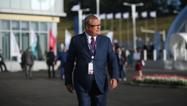 Президент - председатель правления Банка ВТБ Андрей Костин на IV Восточном экономическом форуме