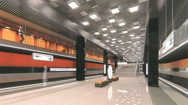 Проект станции Проспект Вернадского Большой кольцевой линии московского метро