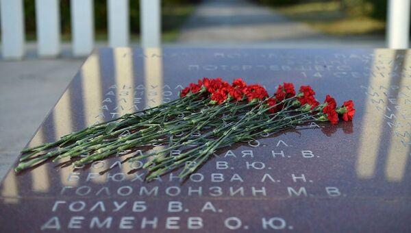 Мемориал погибшим при крушении Boeing 737 в Перми. 14 сентября 2018