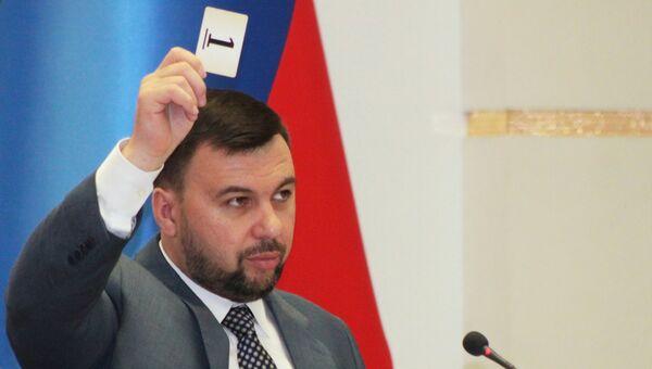 ВРИО главы ДНР Денис Пушилин. Архивное фото