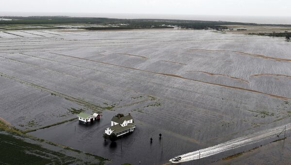 Последствия урагана Флоренс в штате Северная Каролина. 15 сентября 2018