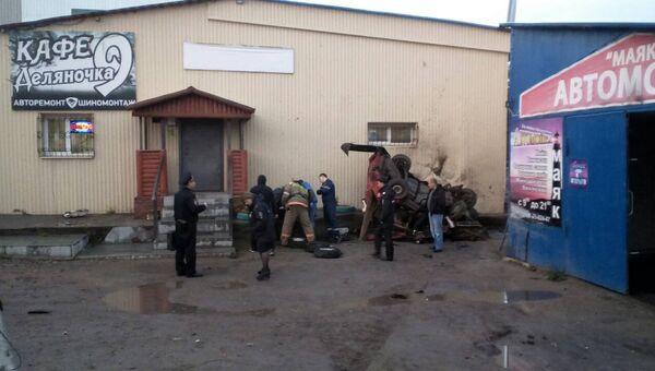 ДТП в городе Кизел, Пермского края
