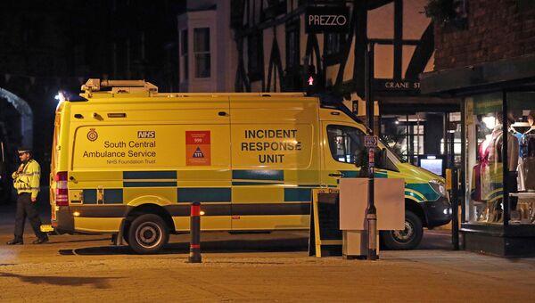 Полиция у ресторана Prezzo в Солсбери. Архивное фото