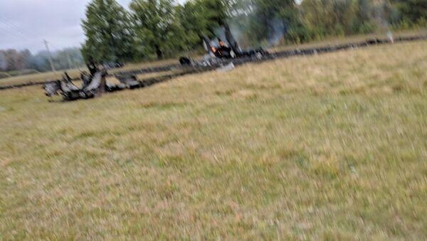 Место падения Миг-31 в Нижегородской области