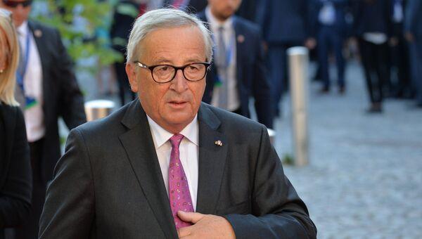 Председатель Европейской комиссии Жан-Клод Юнкер перед началом неформального саммита глав стран-членов ЕС в Зальцбурге. 20 сентября 2018