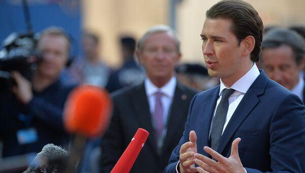 Канцлер Австрии Себастьян Курц перед началом неформального саммита глав стран-членов ЕС в Зальцбурге