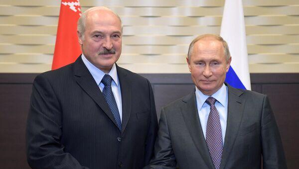 Владимир Путин и президент Белоруссии Александр Лукашенко во время встречи. 21 сентября 2018