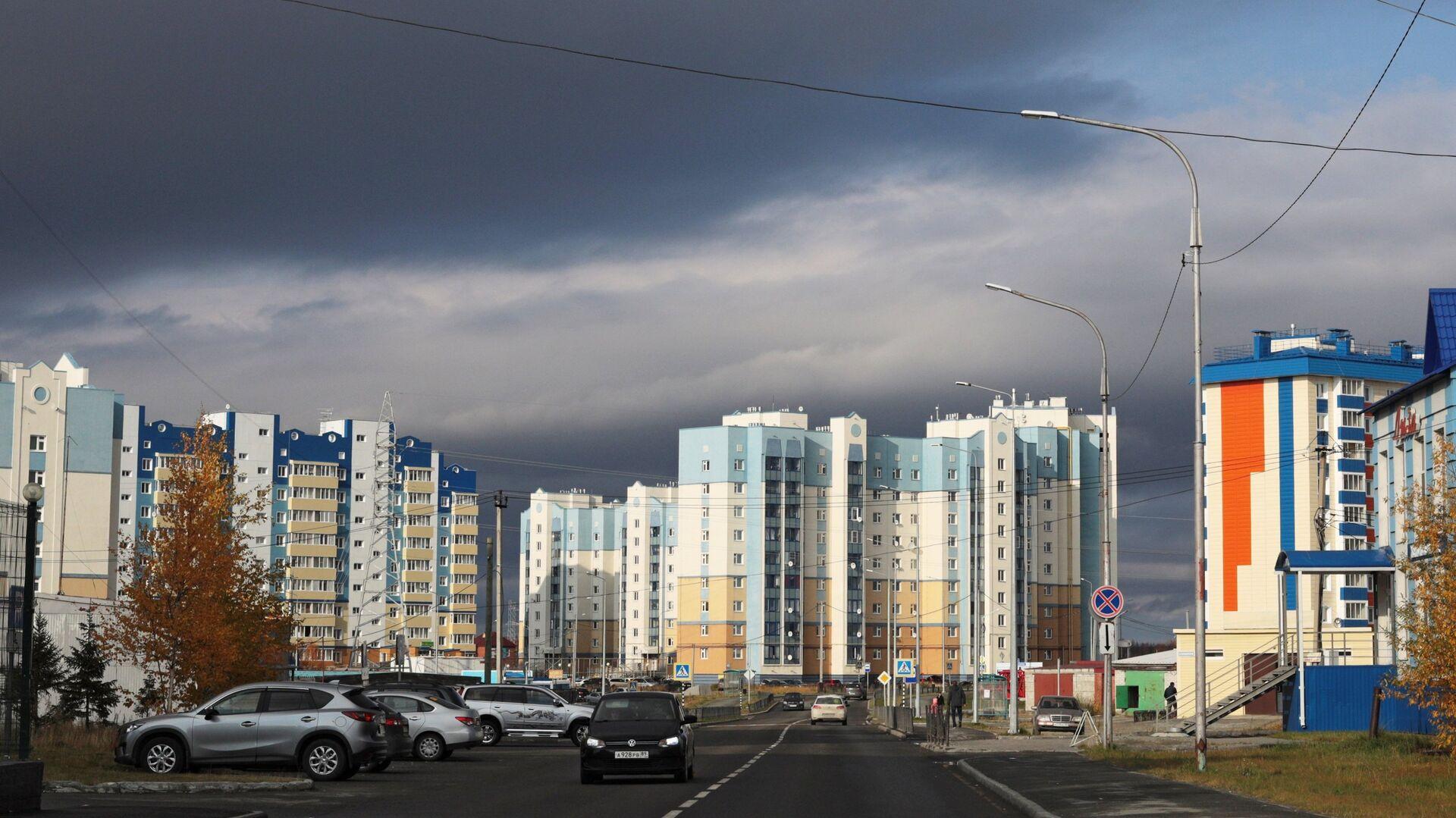 Современная жилая застройка в Салехарде  - РИА Новости, 1920, 05.08.2021
