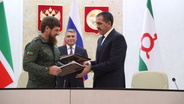 Глава Республики Ингушетия Юнус-Бек Евкуров и глава Чеченской Республики Рамзан Кадыров