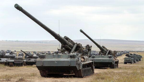 Самоходная артиллерийская установка 2С7 Пион. Архивное фото