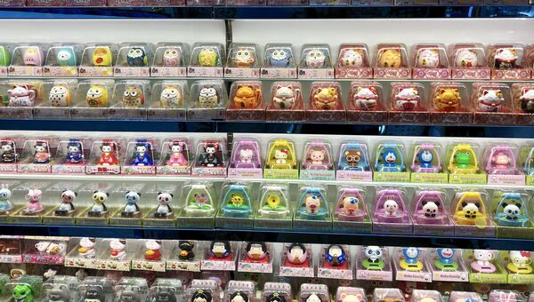 Витрина магазина в международном торгово-деловом центре, Иу, Китай