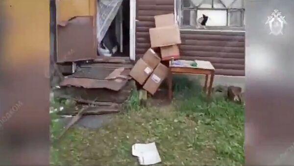 Место жестокого убийства в поселке Новинка Ленинградской области