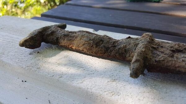 Рукоятка мече, найденного в озере недалеко от местечка Танно, Швеция