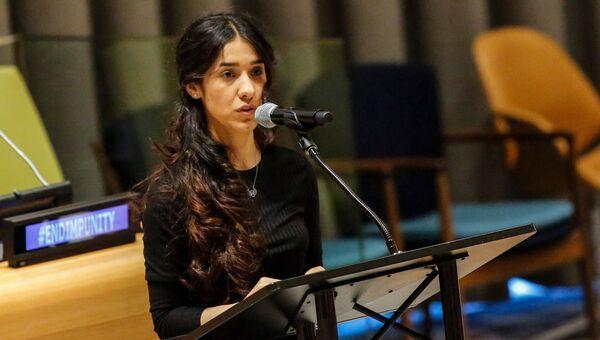 Иракская правозащитница езидского происхождения Надя Мурад. Архивное фото