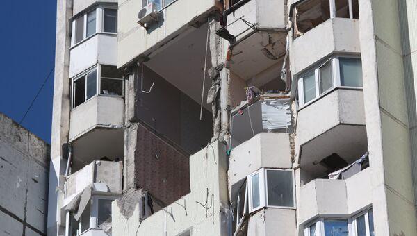 Жилой дом на Московском проспекте в Кишиневе, где произошел взрыв. 7 октября 2018