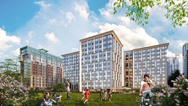 Проект комплекса апартаментов Neopark в Санкт-Петербурге компании ЛСР