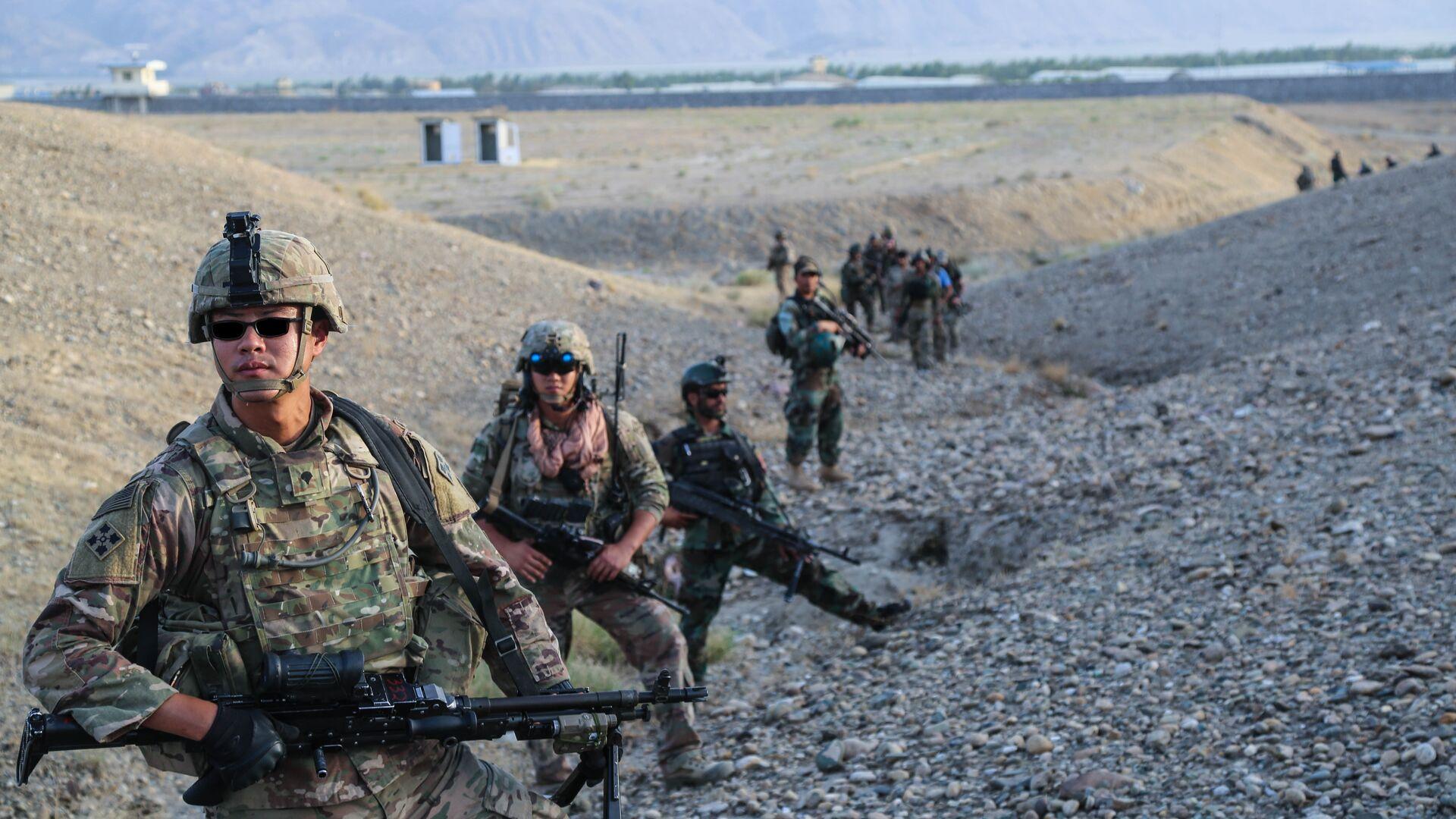 Военнослужащие армии США во время учений в Афганистане - РИА Новости, 1920, 29.01.2021