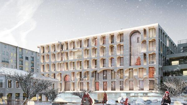 Проект многофункционального комплекса с апартаментами на улице Остоженка