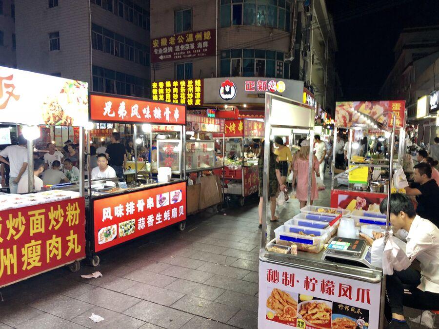 Ночной рынок, Китай