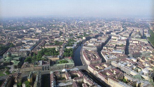 Панорама города. Съемка велась в воздушного шара Бруклин, пилотируемого Львом Мавриным