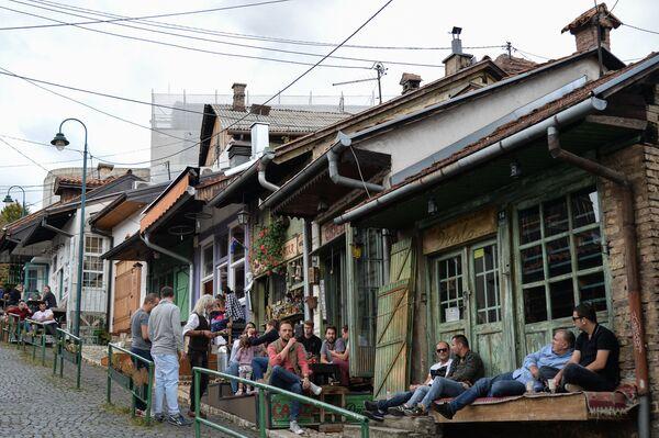 На улочке старого города в Сараево