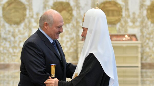 Президент Белоруссии Александр Лукашенко и патриарх Московский и всея Руси Кирилл