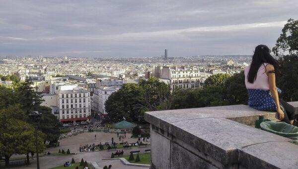 Вид на Париж со смотровой площадки базилики Сакре-Кёр