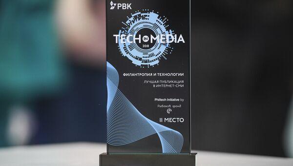 Награда за второе место в тематическом треке Филантропия и технологии среди Интернет-СМИ на Всероссийском конкурсе инновационной журналистики