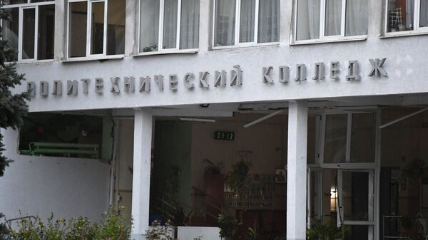 Здание Политехнического колледжа в Керчи, в котором произошли взрыв и стрельба. Архивное фото