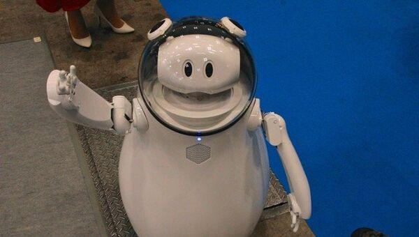 На выставке роботов в Японии. Архивное фото