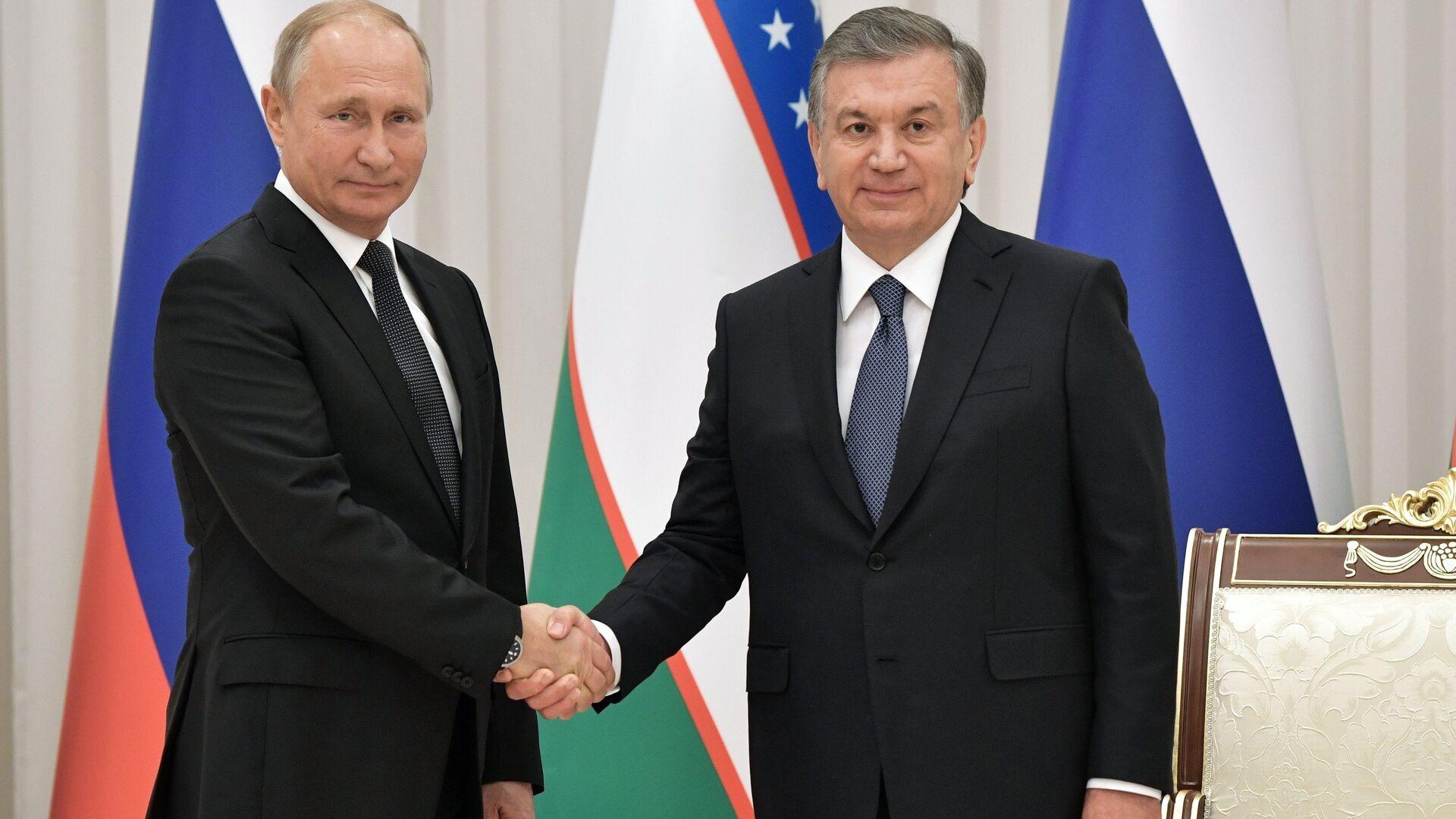 Путин и Мирзиеев подтвердили стремление укреплять союзнические отношения