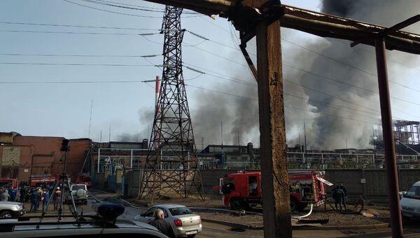Возгорание на заводе Электроцинк во Владикавказе. Архивное фото