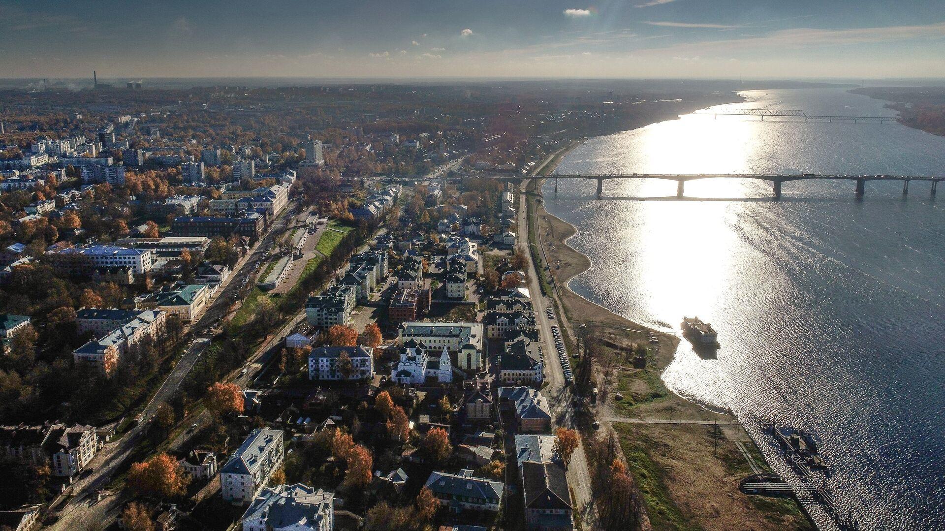 Река Волга в Костроме - РИА Новости, 1920, 10.09.2021
