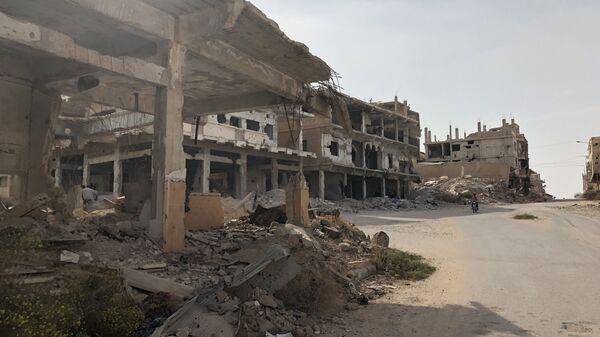 Старая часть города Дераа (Дераа-аль-Баляд), район, где началась сирийская война. 20 октября 2018