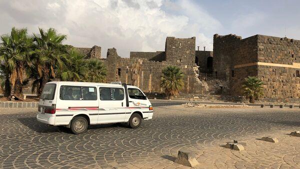 Римский амфитеатр в городе Босра в сирийской провинции Дераа