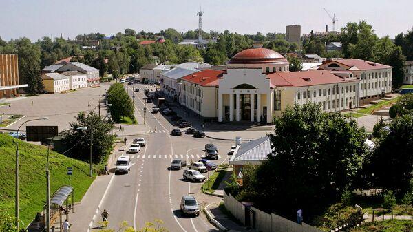 В центре города Волоколамска Московской области. Архивное фото