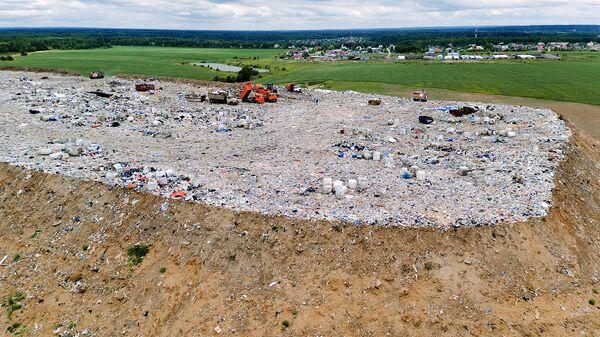 Полигон твердых бытовых отходов Царево в Пушкинском районе Московской области. Архивное фото