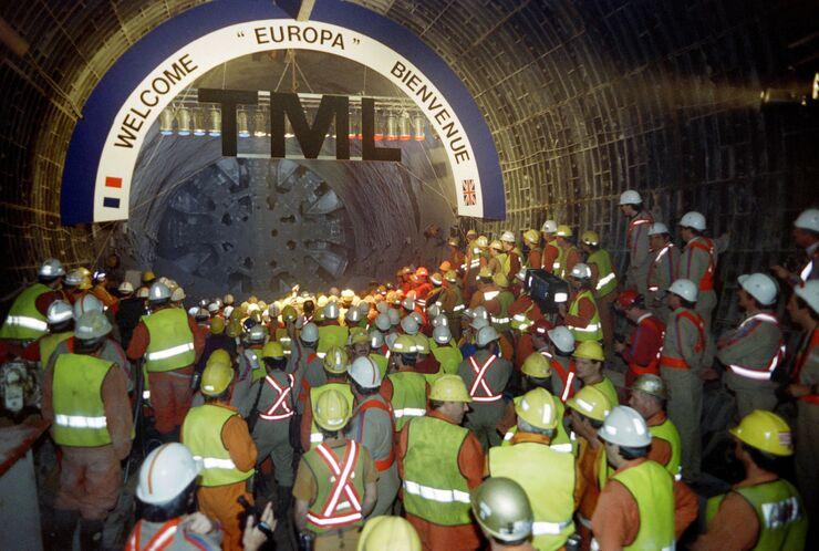 Тоннель под Ла-Маншем между Англией и Францией