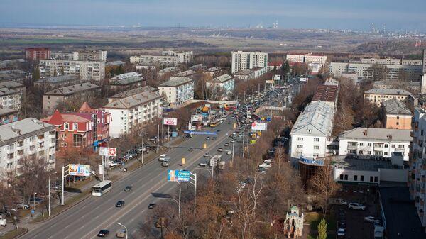 Вид на проспект Октября в Уфе.