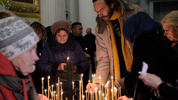 Панихида по жертвам авиакатастрофы над Синаем в Санкт-Петербурге. 31 октября 2018