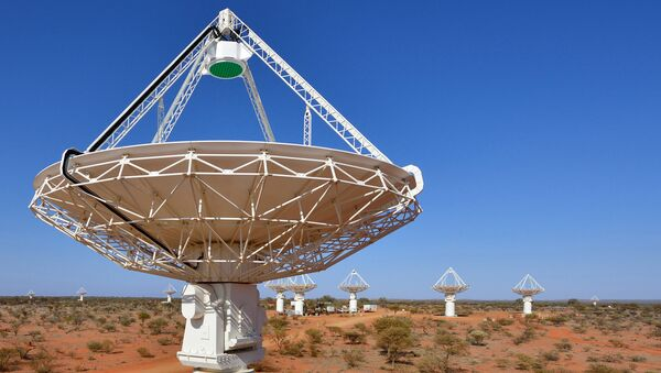 Радиоинтерферометр Australian SKA Pathfinder в обсерватории Мерчисон на западе Австралии